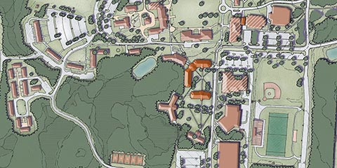 St Anselm Campus Map.St Anselm Campus Hart Howerton